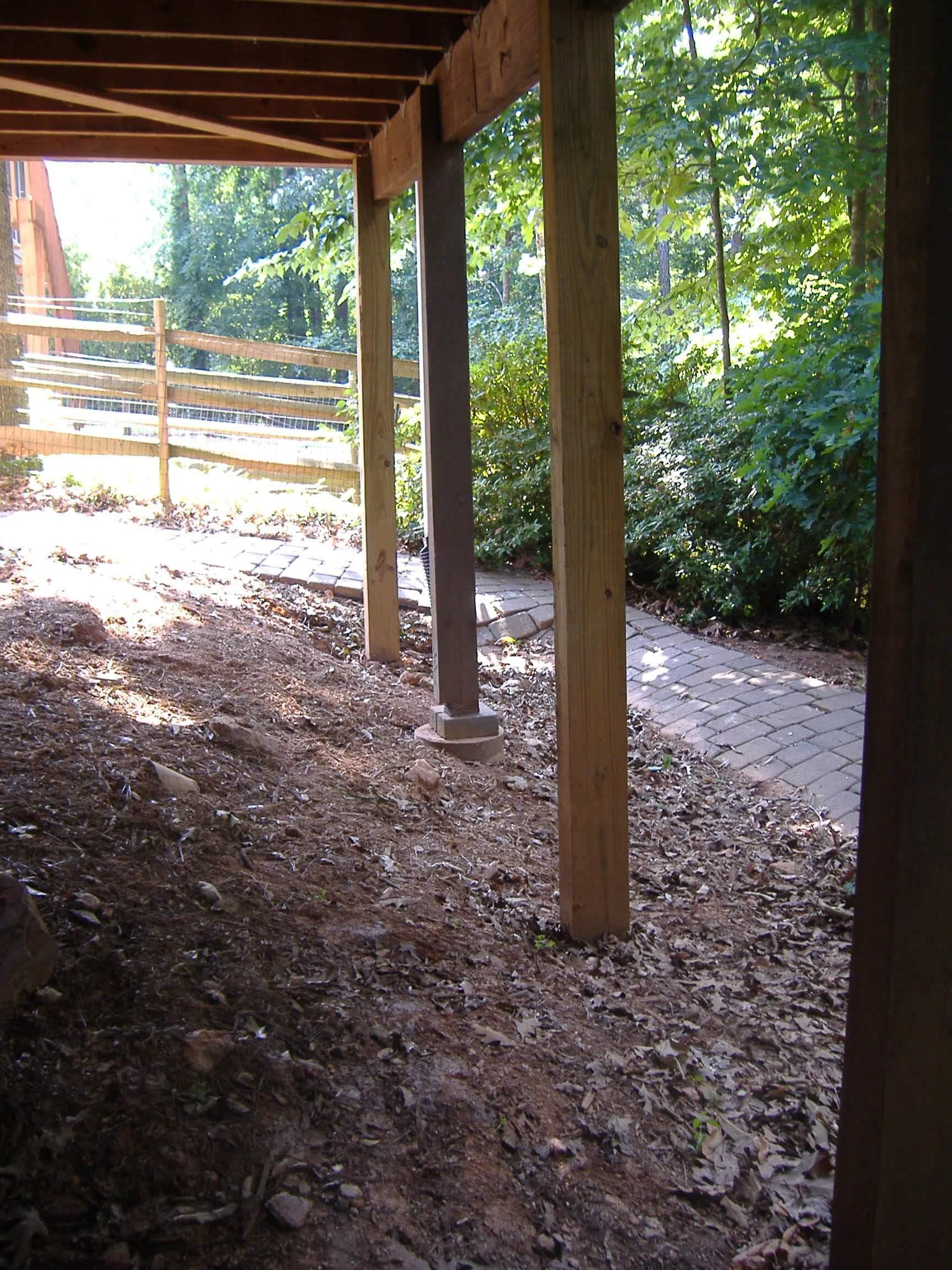 Under Deck Sinkhole Repair Atlanta Sinkhole Repair C Amp M
