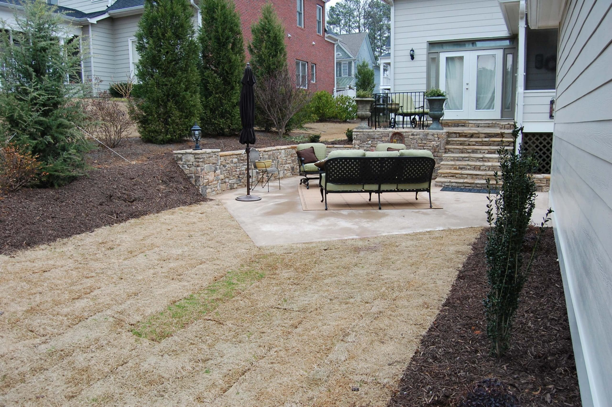 backyard renovation before and after