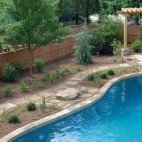 Stone pool pathway