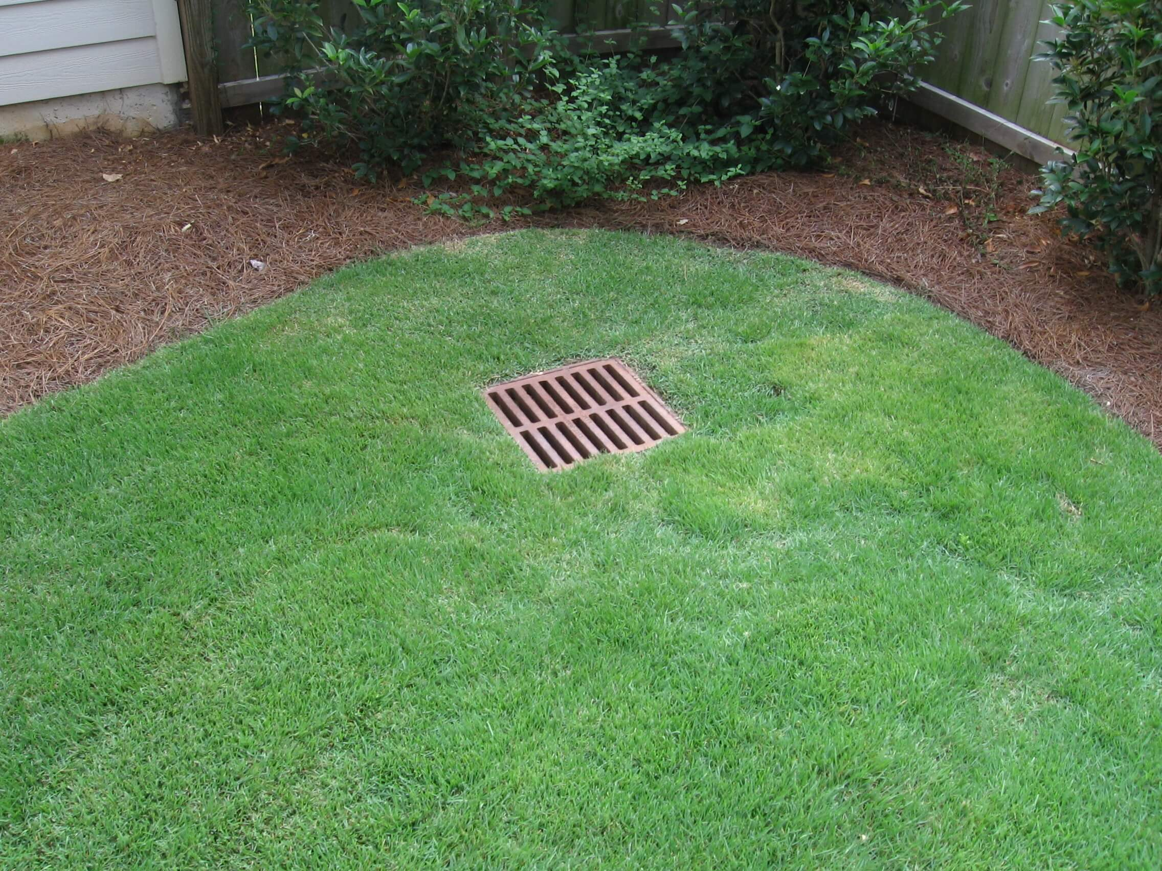 Landscaping Yard Drainage : Catch basin drainage