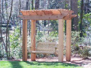 Cedar Swing Arbor