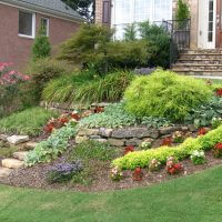 beautiful landscaped yard marietta