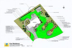 Landscape Conceptual Plan Carr Residence