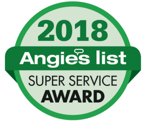 2018 Angie's list Super Service Award Badge
