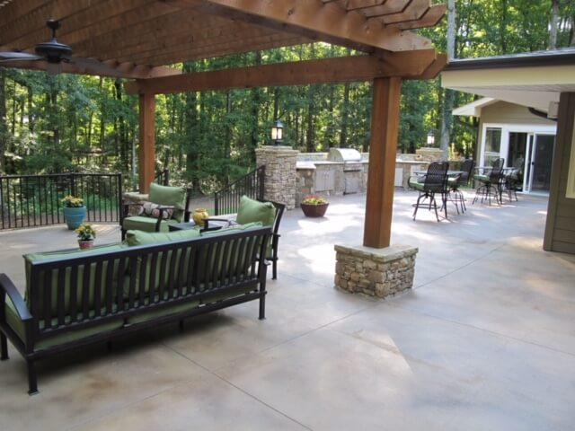 A beautiful, custom Atlanta patio