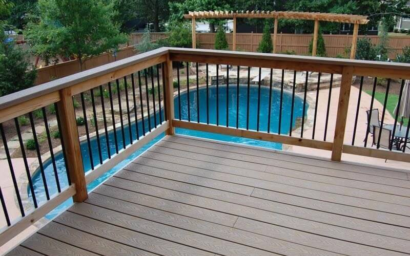 Large Atlanta pool deck