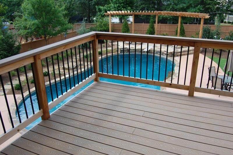 Large Atlanta pool deck